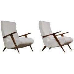 2 Italian Lounge Chairs, 1950s
