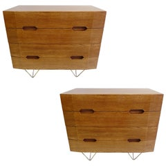 2 Italian Mid-Century Modern Commodes or Chests of Drawers, Circle of Gio Ponti