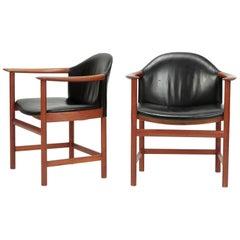 2 Kai Lyngfeldt Larsen Chairs Denmark, 1960s