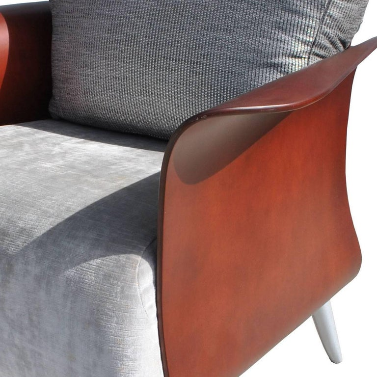 Two Keilhauer Belle Lounge Chairs Bentwood Tom HcHugh In Good Condition For Sale In Pasadena, TX