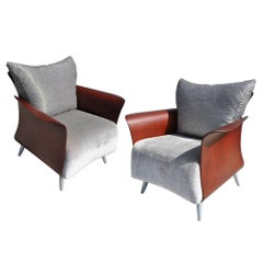Two Keilhauer Belle Lounge Chairs Bentwood Tom HcHugh