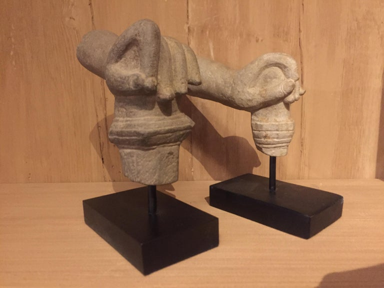 2 Khmer Stone Mudra Hands For Sale 5