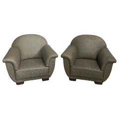 2 Large Art Deco Armchairs