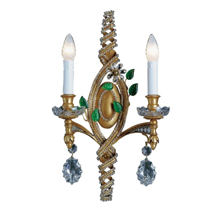 Italian 2-Light Wall Sconce For Sale
