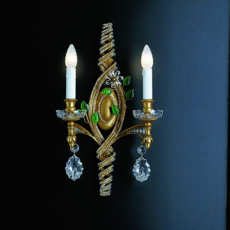 2-Light Wall Sconce In New Condition For Sale In Milan, IT