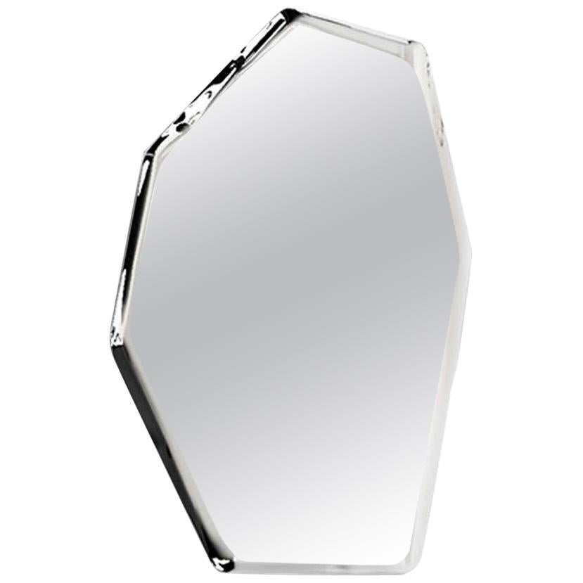 2, Limited Edition Polished Stainless Steel Wall Mirror