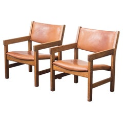 2 Lounge Chairs Designed by Hans J. Wegner for Getama from the 60