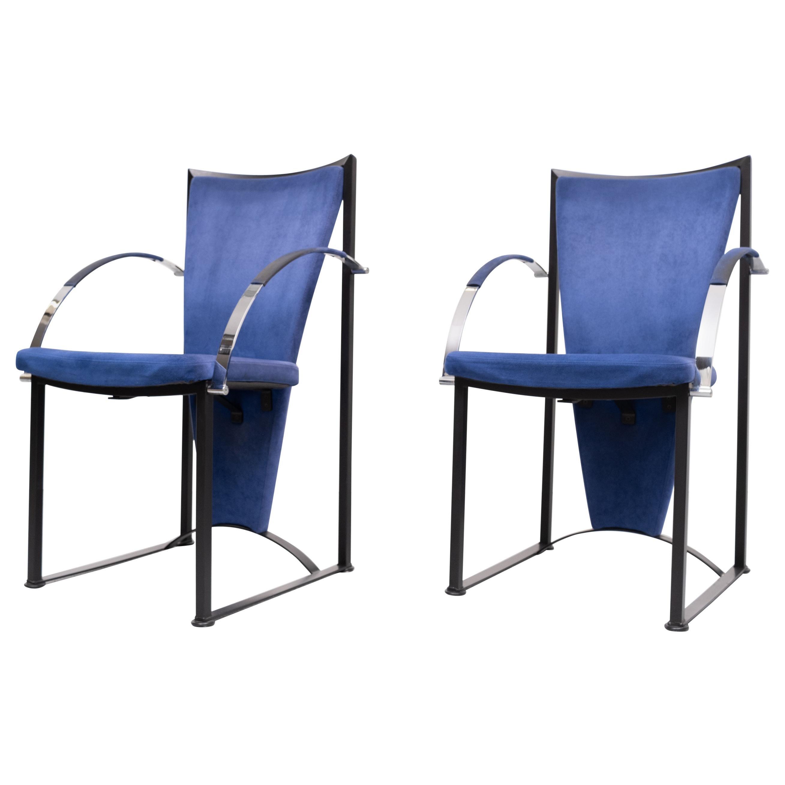 2 Memphis Style Armchairs, 1980s