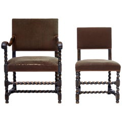 2 Mid-20th Century Chairs by Otto Schulz for Boet