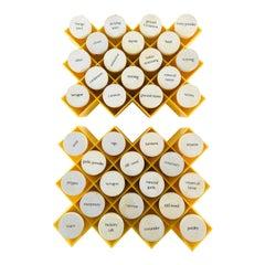 '2' Midcentury Honeycomb Wall-Mounting Acrylic Spice Racks