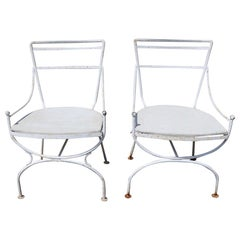 2 Neoclassic Form Garden Chairs