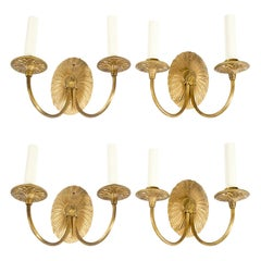 2 Neoclassical Gilt-Metal Sconces
