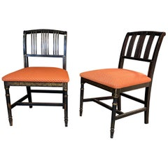 2 Original Napoleon III Ebonised Chairs, France, 1850s