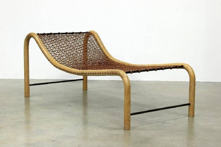 Oversized Bentwood Chaise Lounge Chairs Woven by William ...