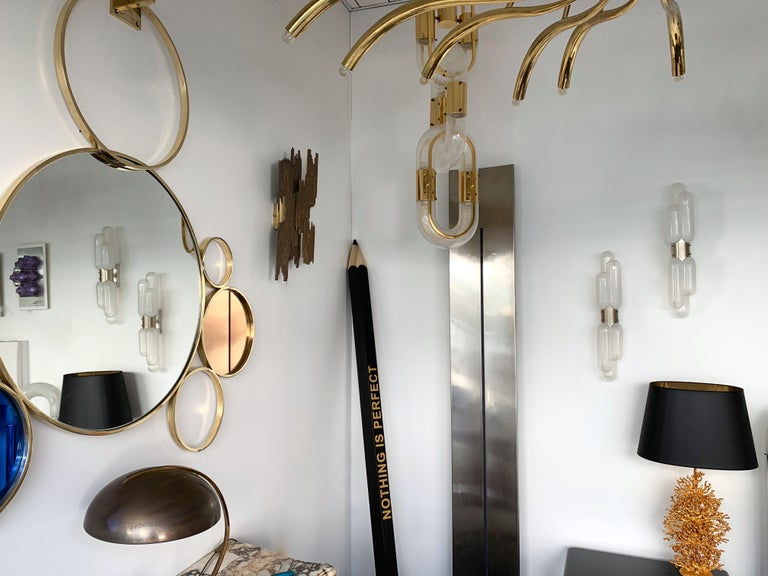 Pair of Torpedo Sconces by Carlo Nason for Mazzega Murano, Italy, 1970s For Sale 3