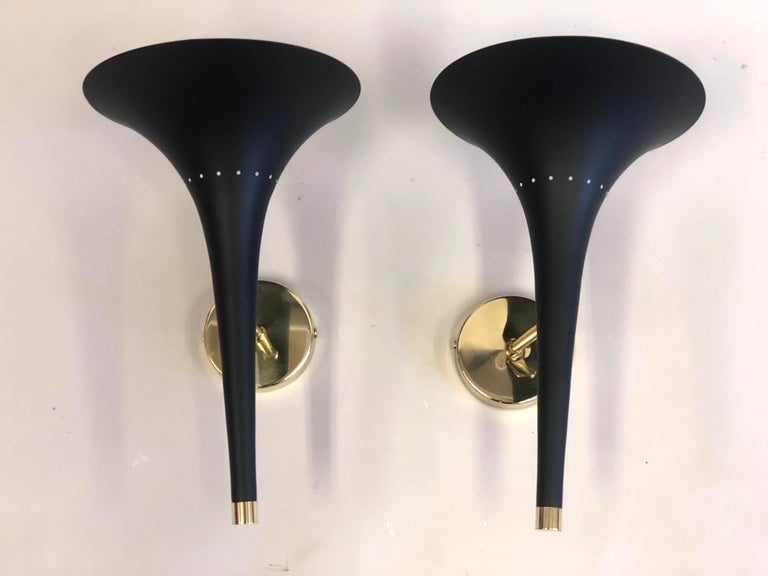 20th Century 2 Pairs of Italian Mid-Century Modern Sconces Attributed to Stilnovo For Sale