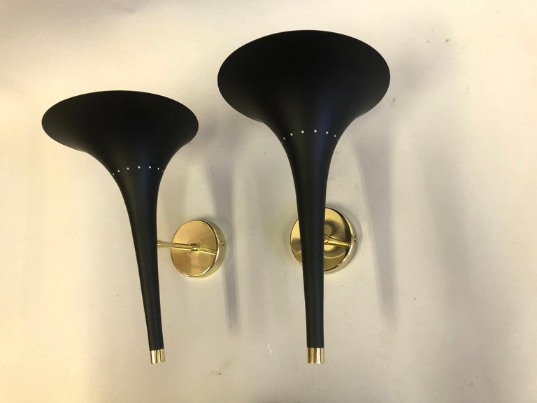 2 Pairs of Italian Mid-Century Modern Sconces Attributed to Stilnovo For Sale 1