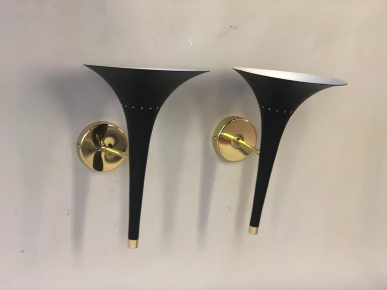 2 Pairs of Italian Mid-Century Modern Sconces Attributed to Stilnovo For Sale 3