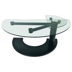 2 Part Glass and Black Metal Pace Arkitera Desk 450 Design Pierfranco Bagarotti