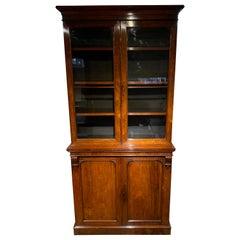 2 Part Victorian Bookcase