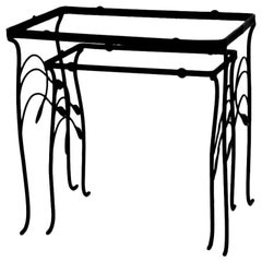 2-Piece Wrought Iron Nesting Tables after Salterini