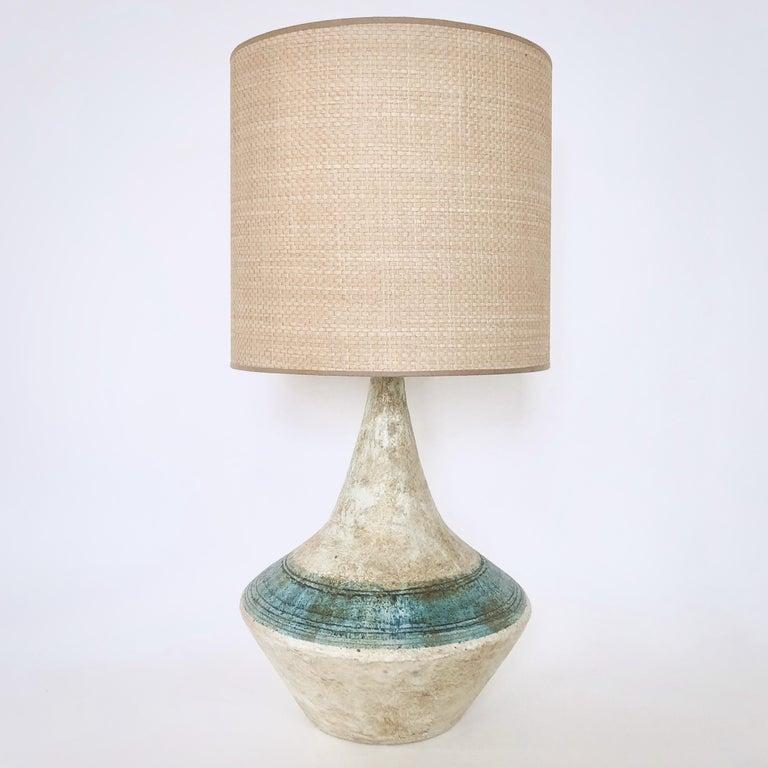 Glazed 2 Potiers 'Deux Potiers' Ceramic Table Lamp For Sale