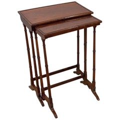 2 Regency Rosewood Nesting Tables
