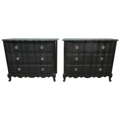 2 Rococo Style 3-Drawer Chest