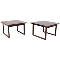 2 wooden Tables by Rud Thygesen for Heltborg Mobler, 1960s, Denmark