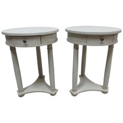 2 Round Tables Side Tables