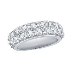 2 Row Diamond Ring 3 Carats