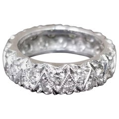 2-Row Staggered Diamond Eternity Ring