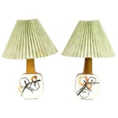 '2' Royal Copenhagen Aluminia Table Lamps