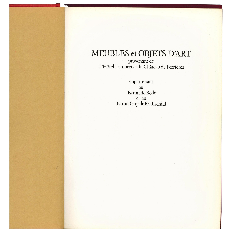 2 Sale Catalogues, Baron de Rothschild & Baron de Rede Meubles & Objets D'Art