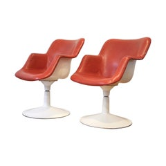 2 Scandinavian Midcentury Swivel Chairs by Yrjö Kukkapuro, Finland, 1960s