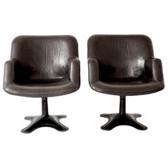 2 Scandinavian Midcentury Swivel Chairs Junior by Yrjö Kukkapuro, Finland, 1960s