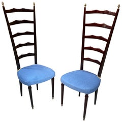 2 Sculptural 1970s Italian Chiavari Chairs