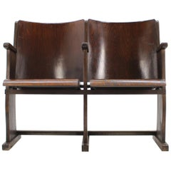 2-Seat of Cinema Chairs / Bench, 1950s
