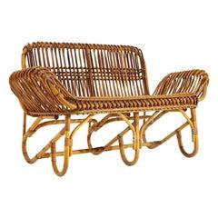 2-Seat Rattan Sofa