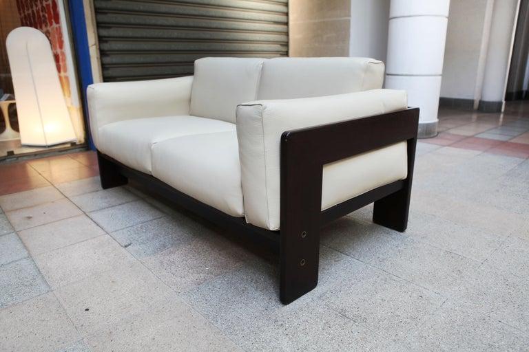 Leather 2-Seat Sofa Model Bastiano Tobia and Afra Scarp, 1975 For Sale