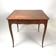 2 Sided 1940s Fruitwood Carlhian Paris Decorative French Writing or Game Table