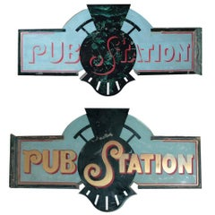 Two Sided Pub Sign