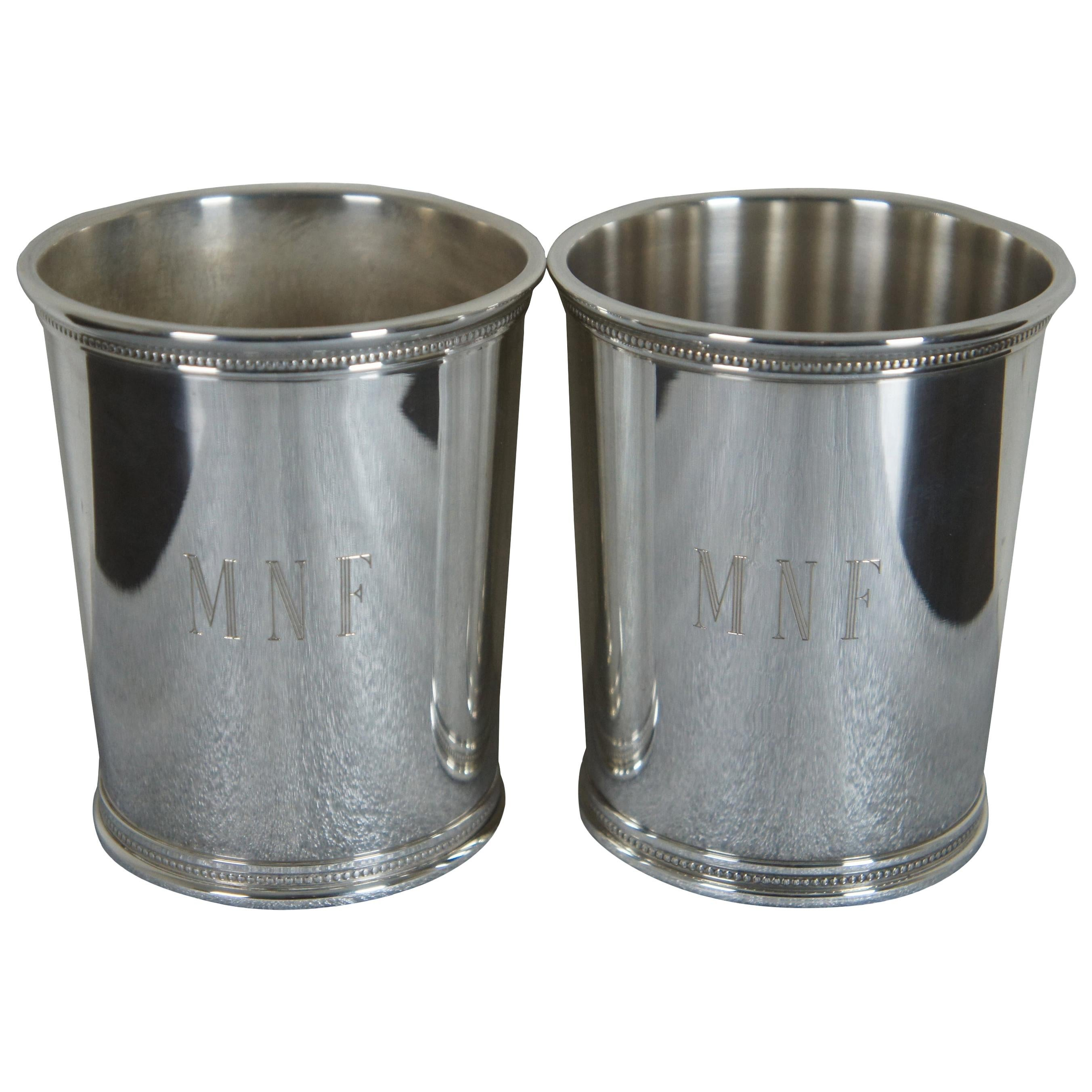 2 Sterling Silver Reed & Barton Gerald Ford Presidential Mint Julep Cup GRF x253
