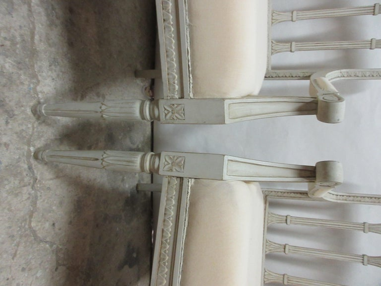 Early 20th Century 2 Swedish Gustavian Armchairs For Sale