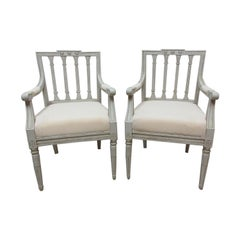 2 Swedish Gustavian Armchairs