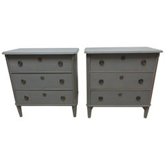2 Swedish Gustavian Chest of Drawers