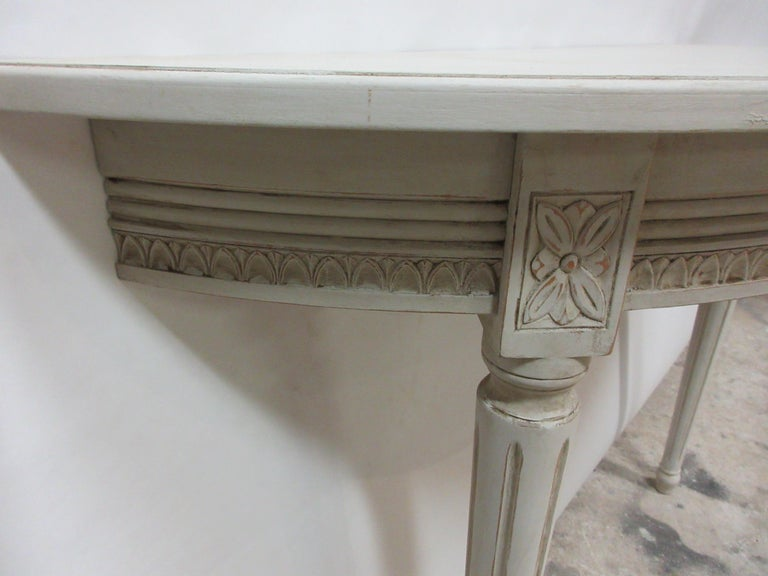 Mid-20th Century 2 Swedish Gustavian Console Tables For Sale