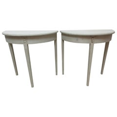 Set of 2 Swedish Gustavian Console Tables
