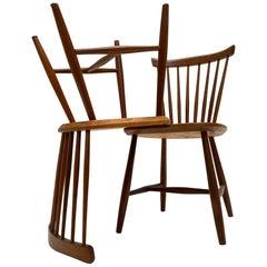 2 Teak Side Chairs 1950s Lena Larson for Nestor Sweden Distributed by Pastoe