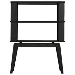 2-Tier Bookshelf/Storage, Ashwood with Black Stain by Debra Folz